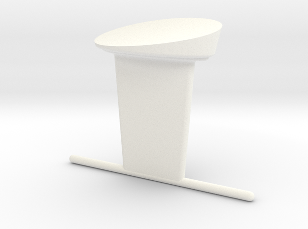 1.10 Chinook Antenne Plate 1 Base in White Processed Versatile Plastic