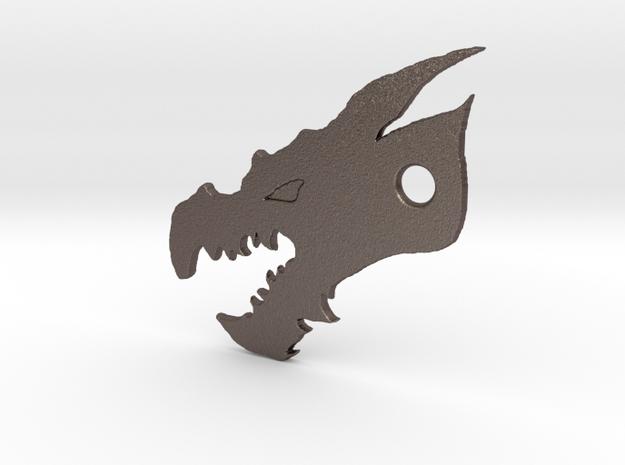 Dragon Bottle Opener in Polished Bronzed Silver Steel