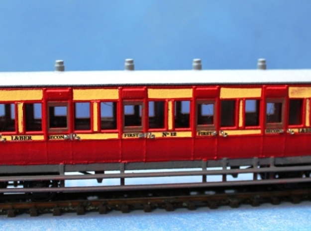 4mm scale LBER All Third or Composite Carriage in White Natural Versatile Plastic