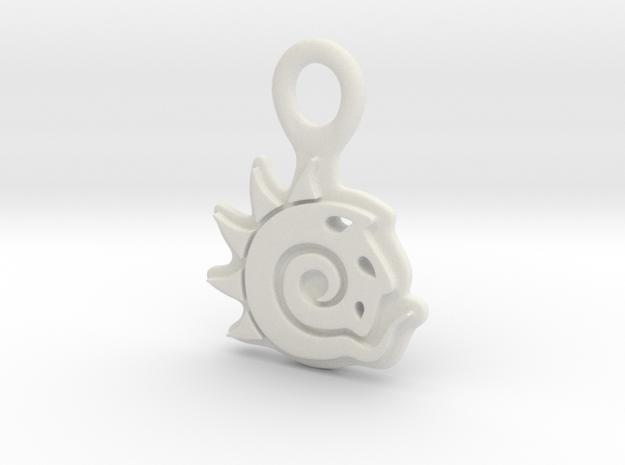 Keychain Pendant Lightwave Logo in White Strong & Flexible