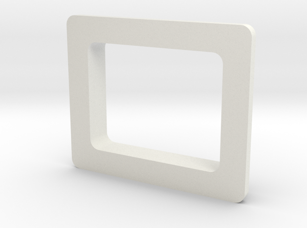Starplat - Screen Bezel in White Natural Versatile Plastic