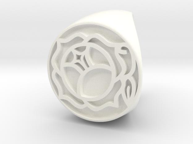 Utena Ring Size 5 in White Processed Versatile Plastic