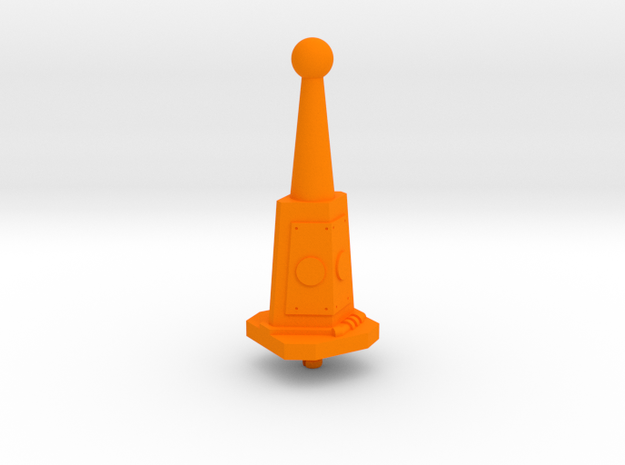 Castle Grayskull Prototype Turret Cannon Stand in Orange Processed Versatile Plastic
