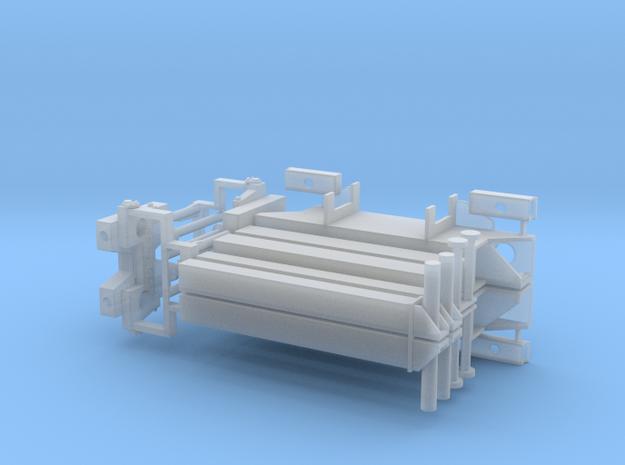 2x Heck- und 2x Frontabstützung in Smooth Fine Detail Plastic