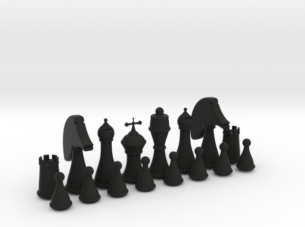 Chess Set in Black Strong & Flexible