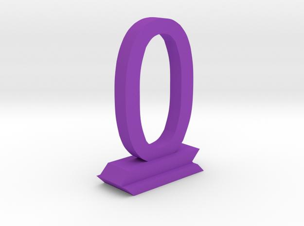 Table Number 0 in Purple Processed Versatile Plastic