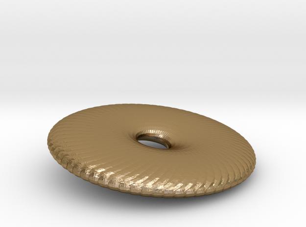 Fan Wafer in Polished Gold Steel
