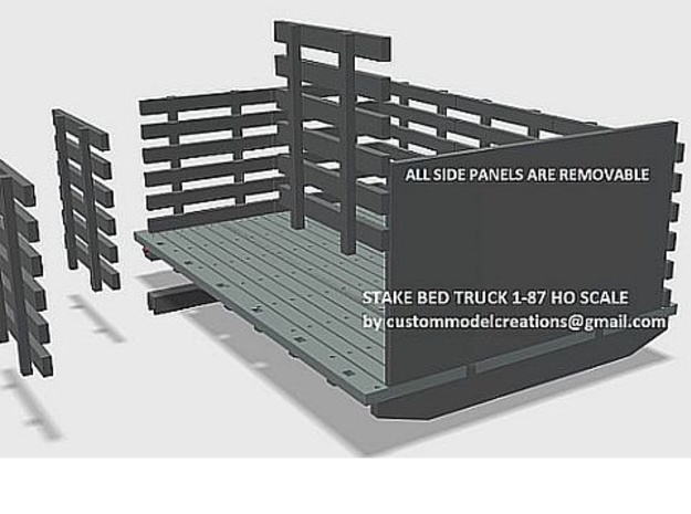 Stake Bed Truck Wood Style Deck 1-87 HO Scale in Smooth Fine Detail Plastic