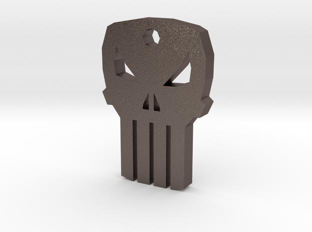 Punisher Keychain in Stainless Steel