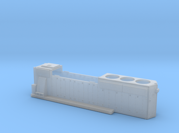 DRGW3129-3130 GP40-2 HOOD 1/87.1 in Smoothest Fine Detail Plastic