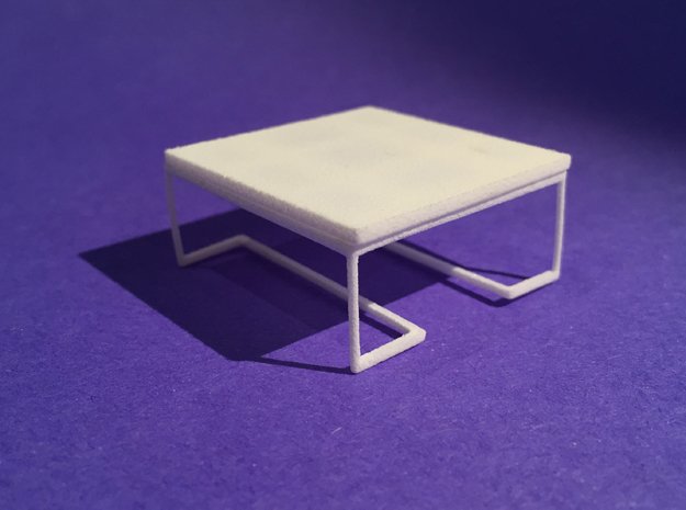 Coffee Table 1-24 in White Natural Versatile Plastic