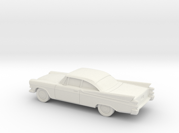 1/87 1957 Dodge Royal Coupe in White Natural Versatile Plastic