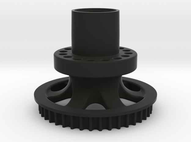 Rear Hub - One Piece For KP Spokes in Black Strong & Flexible