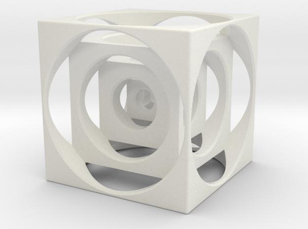 Turners Cube in White Natural Versatile Plastic