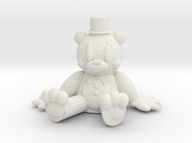 Toy Freddy Chibi in White Natural Versatile Plastic