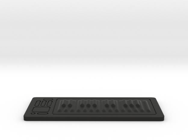 Digital Piano RSR25 1:12 Scale in Black Natural Versatile Plastic