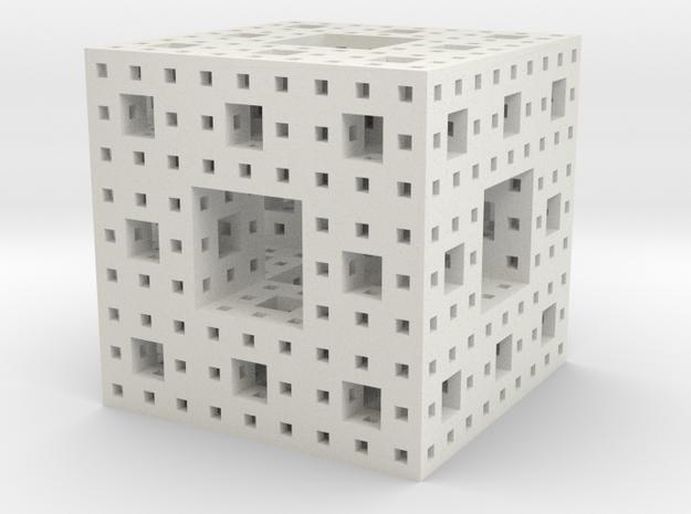 Menger Sponge in White Strong & Flexible