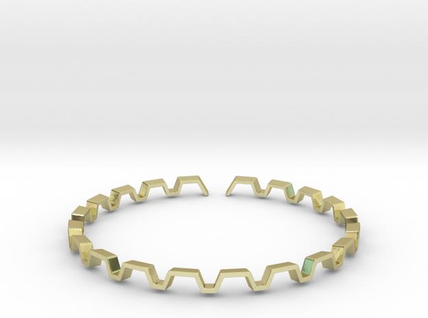 BETTER HALF Bracelet, Medium Size d=65mm in 18k Gold Plated Brass: Medium