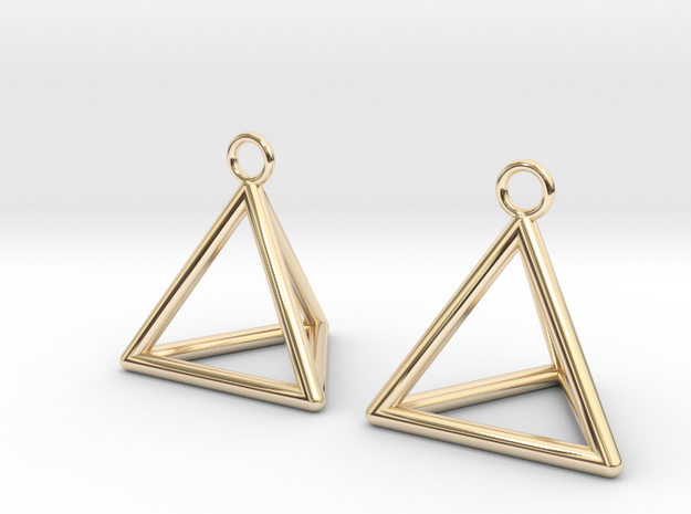Pyramid triangle earrings
