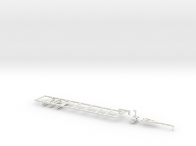 Befort 1/64 scale double header long frame in White Strong & Flexible