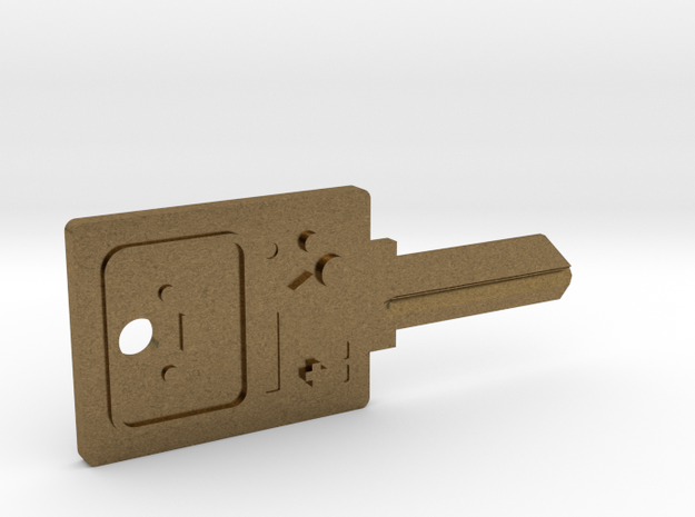 BMO House Key Blank - SC1/68 in Natural Bronze