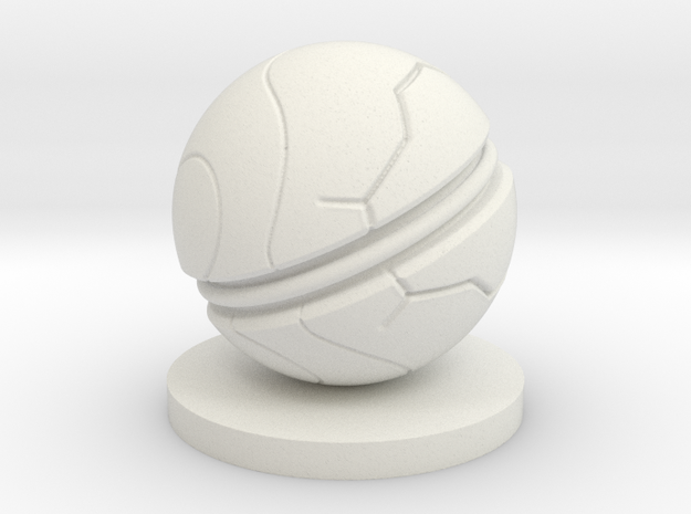 Slaughterball Large (15mm) in White Natural Versatile Plastic