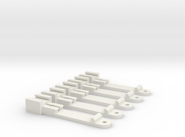 Gittermastadapter für Tomix, 1:160, 5x in White Natural Versatile Plastic