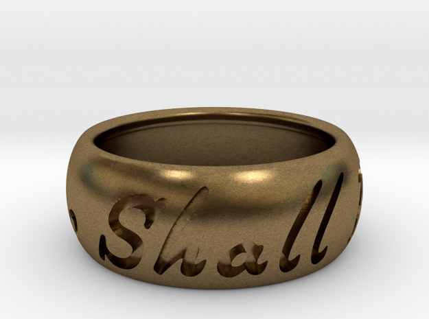 This Too Shall Pass ring size 9.5 in Raw Bronze