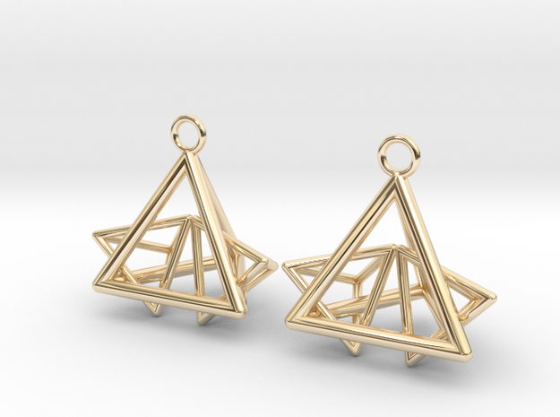 Pyramid triangle earrings type 12