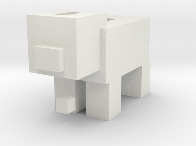 Minecraft Piggy Bank in White Strong & Flexible