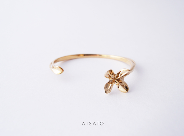 Helix Bracelet in Polished Brass
