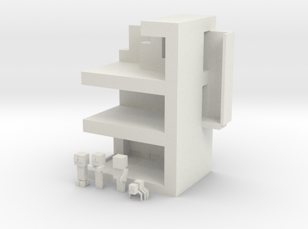 Minecraft Playset in White Natural Versatile Plastic