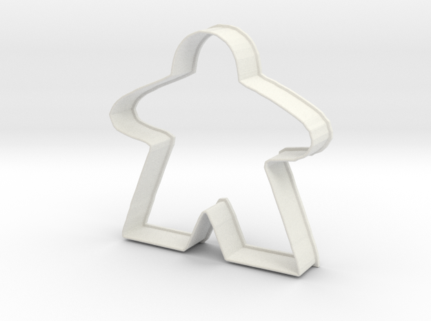Meeple Cookie Cutter in White Natural Versatile Plastic