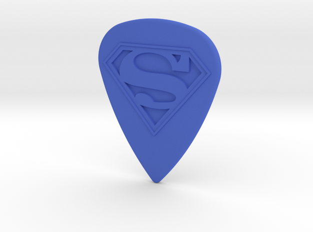 Superman Guitar Pick in Blue Strong & Flexible Polished