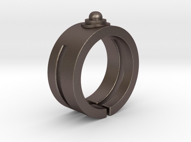 Stylus Ring in Polished Bronzed Silver Steel
