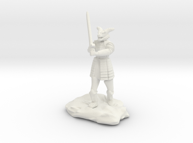 Dragonborn in Splint with Greatsword in White Natural Versatile Plastic