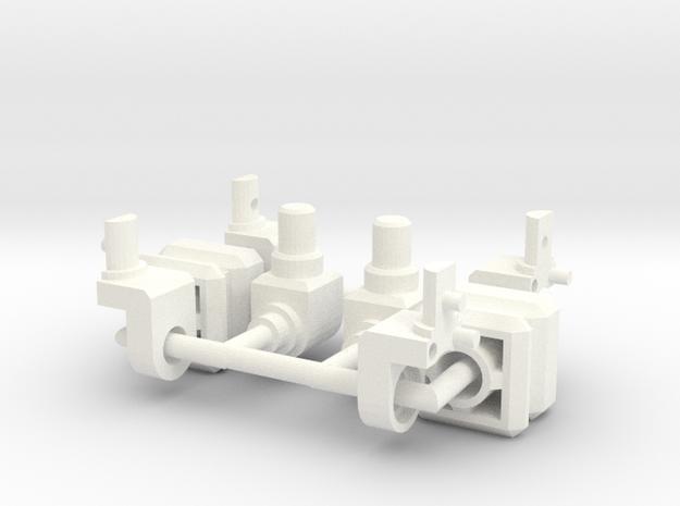 CW Combiner Port to 5MM Peg in White Processed Versatile Plastic