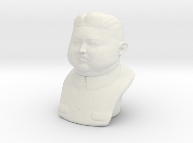 Kim Jong-un bust - smalle version in White Natural Versatile Plastic