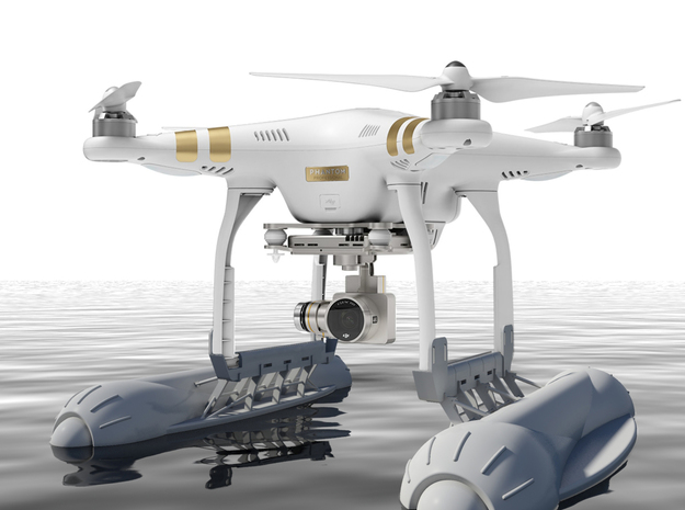 Renovatio Drone - Float for DJI Phantom in White Natural Versatile Plastic