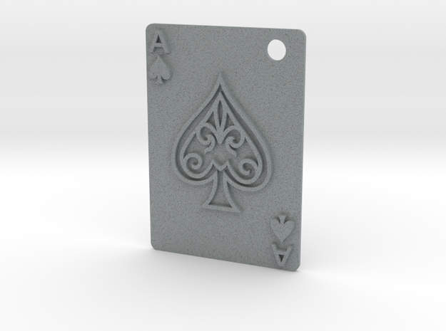 Ace of Spades Pendant in Polished Metallic Plastic