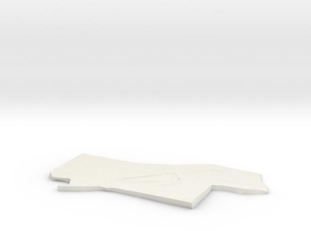3D Site Plan in White Natural Versatile Plastic