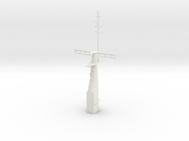 1/96 scale Hamilton Mast Front in White Natural Versatile Plastic