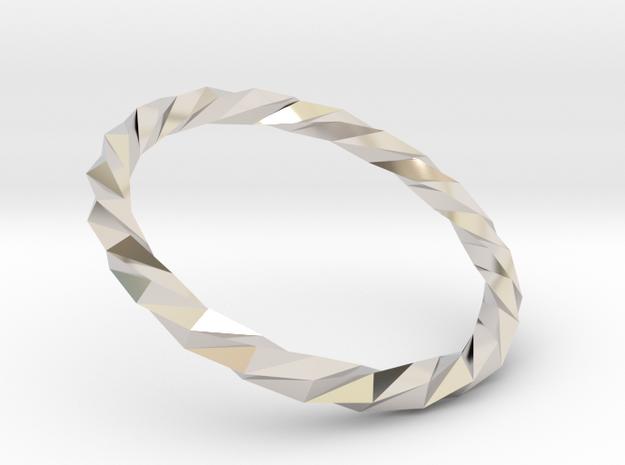 Twistium - Bracelet P=170mm in Rhodium Plated Brass