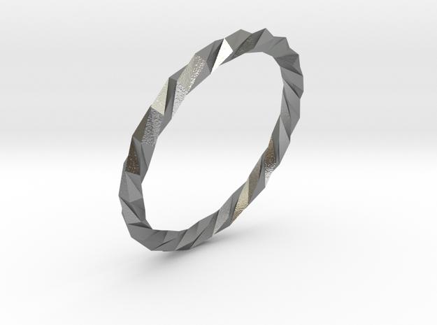 Twistium - Bracelet P=190mm in Natural Silver