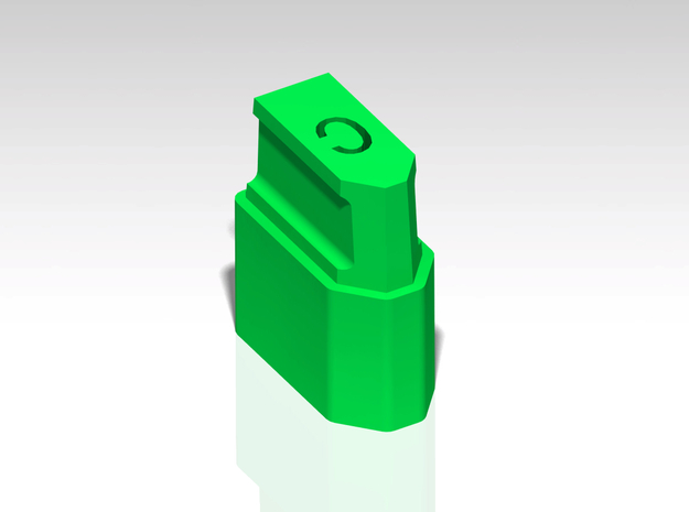 XT60 Safety Cap - 'C' for Charged - Stackable in Green Strong & Flexible Polished