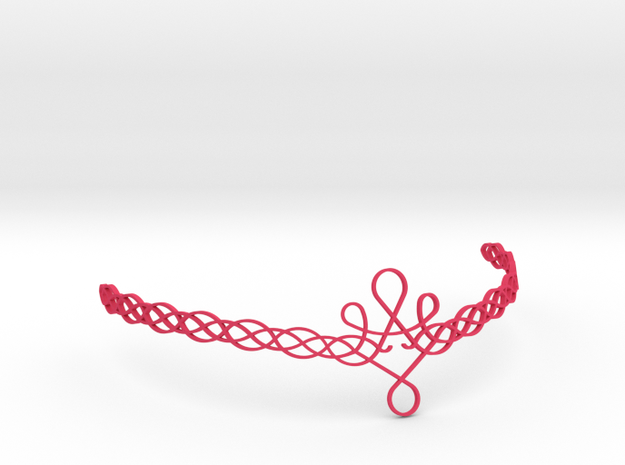 Woven Circlet in Pink Processed Versatile Plastic