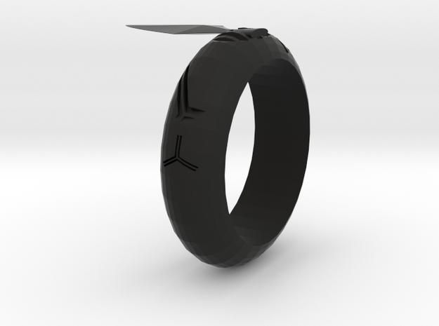 Arrowhead Ring in Black Strong & Flexible