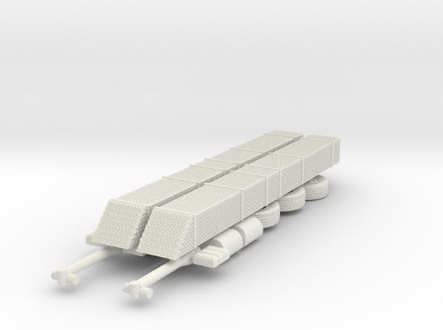 1/64 USAR HAZMAT trailer parts in White Natural Versatile Plastic