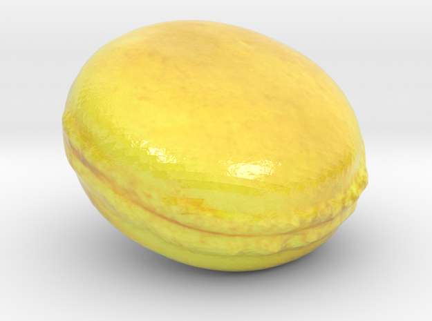 The Lemon Macaron-mini in Glossy Full Color Sandstone