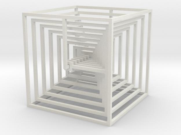 cube_14 in White Natural Versatile Plastic